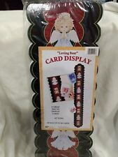 """42"""" Christmas Card Holder """"Loving Bear"""" By Morehead Holds Up To 30 NEW ch30"""