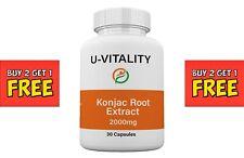 Buy 2 get 1 FREE Best Naturals Konjac Glucomannan extract 2000mg