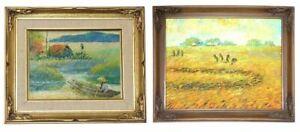 Oil Painting Set - Rural Asian Scenes