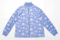 Papaya Womens Size 16 Fleece Blue Snowflake Jacket