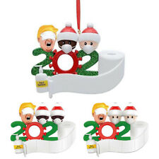 Personalized Christmas Hanging Ornament 2020 Mask Toilet Paper Xmas Family Gift@