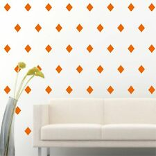 "4"" Set of 96 Orange Diamond Shape Wall Decal Vinyl Sticker Wall Pattern Decor"