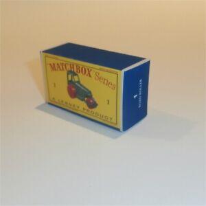 Matchbox Lesney  1 d Road Roller empty Repro D style Box