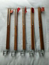 New listing 5 Wood Vintage Ice Fishing Tip Ups Perch / Pike Never -Fail Company