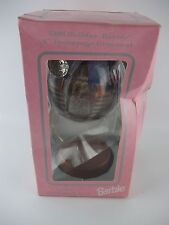 "1998 Holiday BARBIE 4"" Decoupage Ornament with Stand, New"