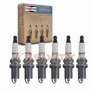 6 pc Champion Copper Plus Spark Plugs for 2007-2011 Dodge Nitro 3.7L V6 nm