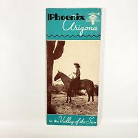 1938 Phoenix Arizona AZ Vintage Travel Brochure Cartoon Map West Western
