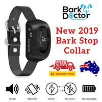 2019 BARK DOCTOR BARK STOPPING COLLAR S-XXL RECHARGEABLE Beep Static VIBRATION