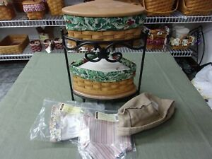 Longaberger Christmas Small Corner stand. Combo. 2 sets available.