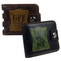 Mens Vegan Leather Bi-Fold Cash & Card Wallet