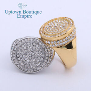 Hip Hop Round Men's Stainless Steel Big Pinky Ring Size:8-13 #JB