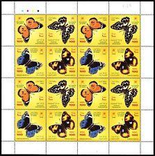 Oman 1999 ** Mi.449/52 Klbg. Schmetterlinge Butterflies Insekten Insects