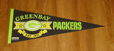 1980's Green Bay Packers Est. 1921 pennant black rare color