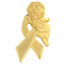 Childhood Cancer Pin Awareness Month is September Gold Ribbon Guardian Angel New