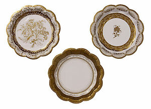12 x small Gold Paper Plates - Golden Wedding 50th Anniversary Wedding Party