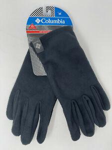NEW Columbia Men Agent Heat II Thermal Omni-Heat Fleece Winter Gloves Black M