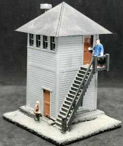 Vintage HO Scale Plasticville Switch Tower 2402-79,Yard Building,Snap-Fit CUSTOM
