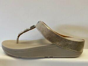 Fitflop Roka Metallic Toe Thong Sandals Ladies UK 7 US 9 EUR 41 CM 25.8 =M1537