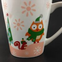 Christmas Holiday Country Cottage OWL SQUIRREL Ceramic Coffee Mug exclusive