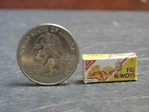 Dollhouse Miniature Fig Newtons Cookies Food Box 1:12 scale H48 Dollys Gallery