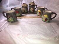 Vintage Mushroom Coffee Cup Set