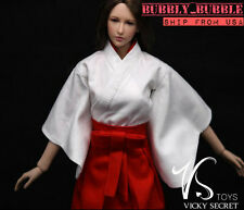 "1/6 Japanese Kimono Miko Dress For 12"" Phicen Hot Toys Female SHIP FROM USA"