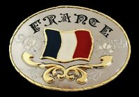 France Flag Drapeau Francais Western Belt Buckle Boucle De Ceinture