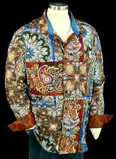 "Robert Graham ""Koster"" NWT $495 Patchwork Embroidered Limited Edition 4XLB"