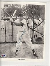 Signed 8 X 10 Yankees Joe DiMaggio PSA DNA