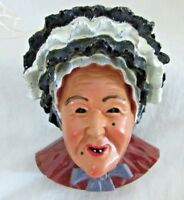 Swabian Alemannic Carnival Miniature Face, Woman, Hand Painted Resin, Hanger