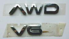 2002-2007 Saturn VUE AWD V6 Plastic Chrome Colored Liftgate OEM Emblem