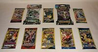 10 New Pokemon Packs Unweighed / 10 Card Packs & 3 Card Packs XY Evolutions With
