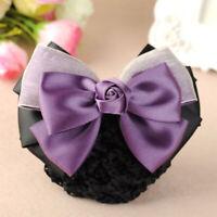 Hair Net Barrette Professional Ladies Hair Clip Net Snood Women Headwear_