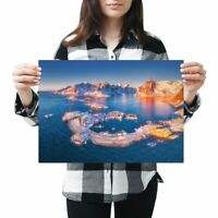 Pretty Snowy Lofoten Island Norway Size A3 Poster Print Photo Art Gift #3422 A3