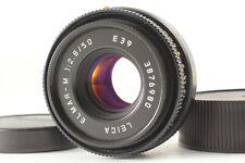 DHL [ MINT ] Leica ELMAR-M 50mm F/2.8 Black E39 M Mount Lens From JAPAN #1027