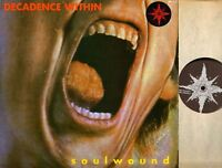 DECADENCE WITHIN soulwound (uk & inner) LP EX/VG+ VILE 21 hardcore punk 1990