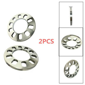 Car Wheel Spacers Wheelbase Gasket 5 Holes 12mm Aluminum ET Adjusting Shims  2x