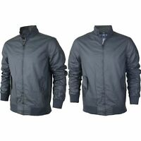 New Mens Wax Coated Harrington Quilted Lined Waterproof Jacket Zip Bomber Coat