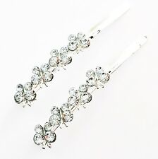 USA Bobby Pin Rhinestone Crystal Hair Clip Hairpin Butterfly Qute Silver Clear