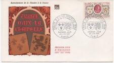 FRANCE 1968 F.D.C.TRAITE D'AIX-LA- CHAPELLE.OBLIT:LE 29/6/68 PARIS