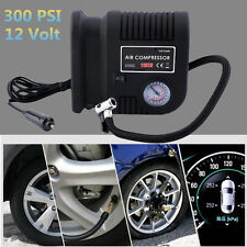 Portable Mini Air Compressor Electric Tire Infaltor Pump 300 PSI Auto Tire 12V K