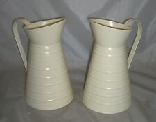large Tin jugs x 2 pieces cream 24 cm tall wedding tables kitchen not waterproof