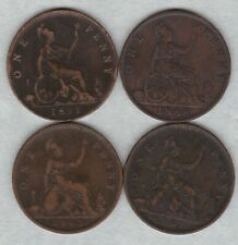 FOUR 1862/1863/1888 & 1891 VICTORIAN PENNIES IN GOOD FINE OR BETTER CONDITION.