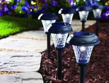 Path Light LED Solar Power Set Of 8 Super Bright Weatherproof Landscape Lighting