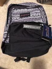 Jansport Superbreak Backpacks Black/white backpack Limited Edition