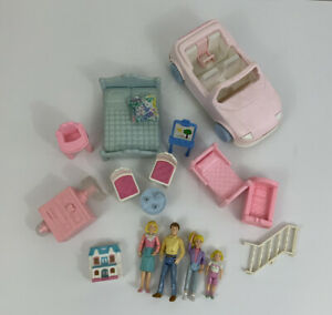 Vintage Playskool Dollhouse Furniture Car People Accessory Lot /c