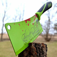 "12"" ZOMBIE HUNTER Tactical Kitchen MEAT CLEAVER Chopping Chef Fixed Blade KNIFE"