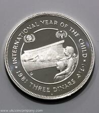 1981 Jordan ARGENTO PROOF 3 Dinari Coin