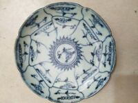 Chinese old porcelain  blue and white porcelain bowl  plate