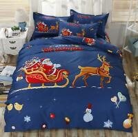 3D Snowman Bird N608 Christmas Quilt Duvet Cover Xmas Bed Pillowcases Fay